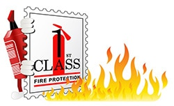 1st Class Fire Protection Norfolk Logo