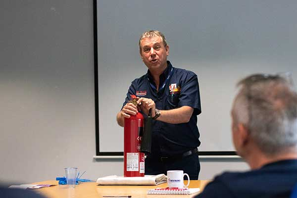 fire safety training at the workplace