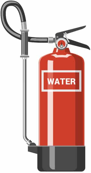 Types of Fire Extinguisher Water