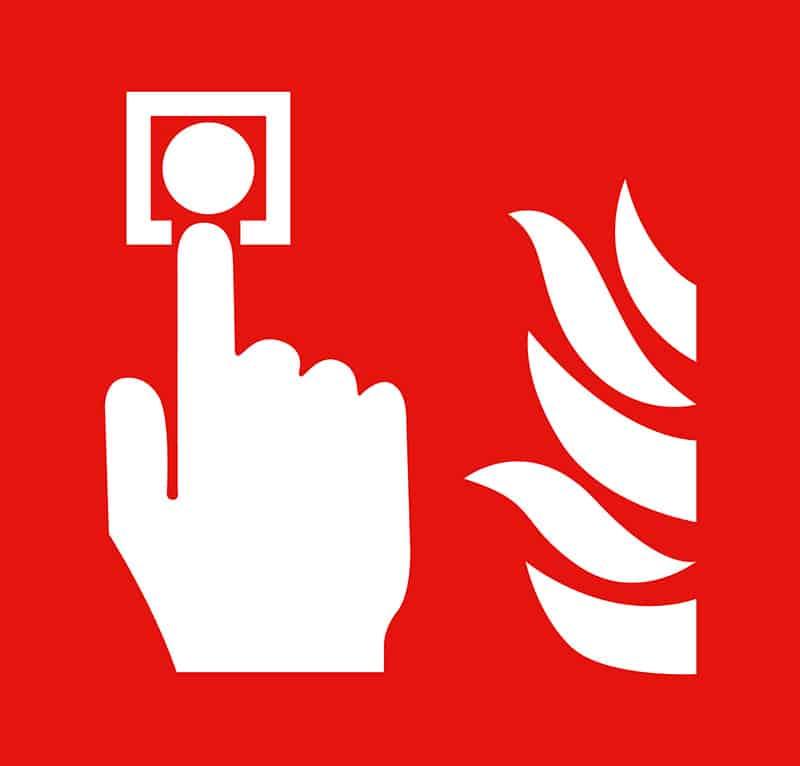 Fire Alarm Regulations Sign